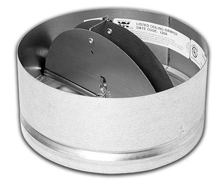 Round Ceiling Radiation Damper